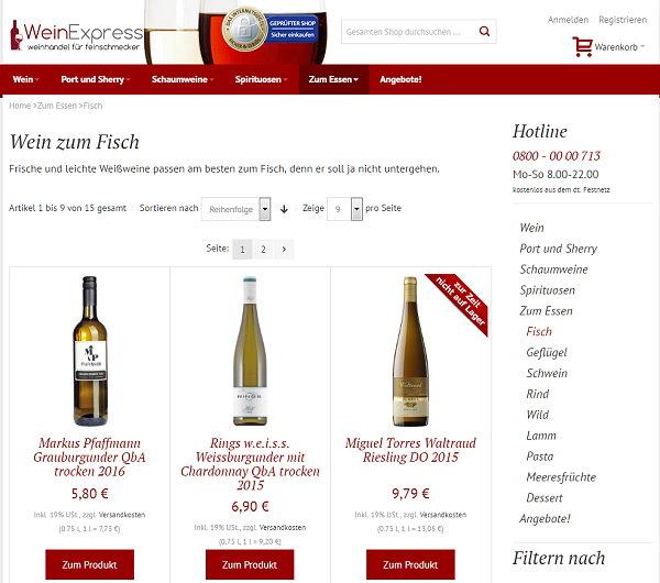 Gute Infos für Weingenießer, wenn es um das Thema Wein und Fisch geht.