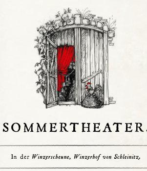 Sommertheater in der Winzerscheune im Winzerhof von Schleinitz