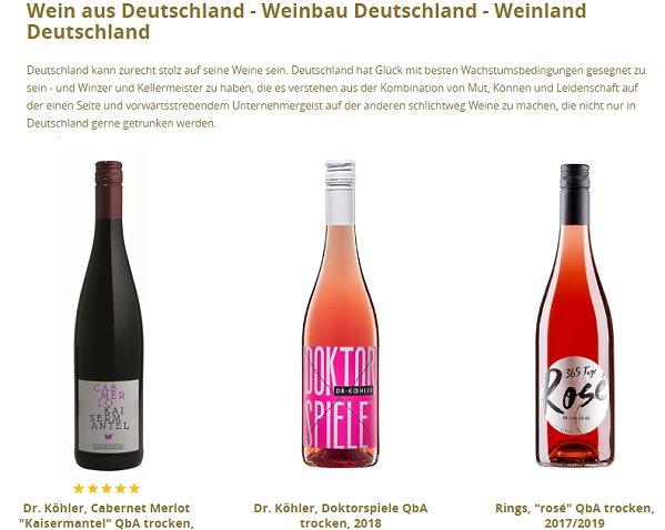 Vinehouse, gute Weine aus Deutschland